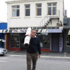 Alexandra Floor Pride manager Trevor Mills moves stock to his new shop to make way for demolition...