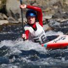 Alexandra slalom kayaker Finn Butcher in action on his way to two national titles.