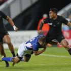 All Blacks centre Malakai Fekitoa looks to offload against Namibia. Photo: Reuters