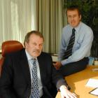 Alliance chairman Owen Poole and chief executive Grant Cuff. Photo from <i>ODT</i> files.