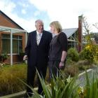 Allied Press Ltd chairman and managing director Julian Smith and Otago Community Hospice chief...