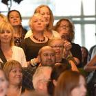 An appreciative audience enjoys a welcome speech by iD Dunedin Fashion Week committee chairwoman...