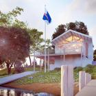 An architect's impression of Coastguard Queenstown's proposed operations base at Frankton Marina....