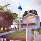 An architect's sketch of the $575,000 operations base that Coastguard Queenstown wants to build...