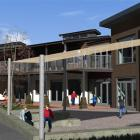 An artist's impression of the $1.25 million block of six classrooms and library space to be built...
