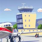 An artist's impression of the Dunedin Airport at Momona. Image supplied.