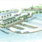 An artist's impression of the planned Frankton Marina. Image supplied.
