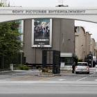An entrance gate to Sony Pictures Entertainment at the Sony Pictures lot is pictured in Culver...