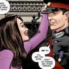 """An illustration for the graphic novel """" Kate and William: A Very Public Love Affair"""" . The royal..."""