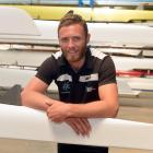 Andrew Potter at the Otago University Rowing Club during the week. Photo by Stephen Jaquiery.