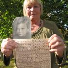 Anna Skeet, of Alexandra, with a photo taken of her shortly after the war and some of the food...
