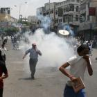 Anti-government protesters demanding the ouster of Yemen's President Ali Abdullah Saleh flee...