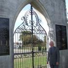 Rotary Club of Waitaki president Graham Clark in front of the new plaques at the Garden of...