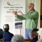 Applied coastal scientist Jim Dahm shows how changes can be made to coastal dunes with community...