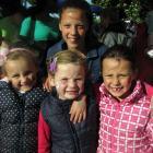 Eden Breen (5), Bella Donaldson (6), Brooke Williams (11, rear) and Pippa Williams (6), all of...