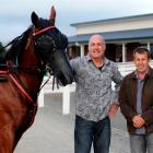 Armori  and two of her co-owners,  Tony Gow, of Mosgiel (left) and Peter Soper, of Dunedin, after...