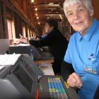 Noeline Stoddart, of Dunedin, at the Roxburgh trots. She has been working the totes for 60 years.