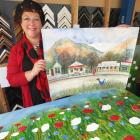 Arrowtown artist Bridget Paape prepares her latest works of art for an exhibition called Life is...