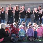 Arrowtown School's kapa haka group performs at the official opening of the Arrowtown Early...