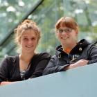 Arthritis researcher Lauren Redshaw (left) with her friend and inspiration Marina Roxburgh. Photo...