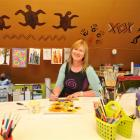 Artist and teacher Cheryl Pearson prepares for a busy week of art at her East Taieri home. Photo...