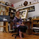 Artist Rod Eales in her Deborah Bay studio. Photo by Jane Dawber.