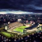 Artist's impression of the Christchurch AMI stadium