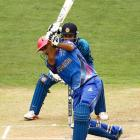 Asghar Stanikzai hits out for Afghanistan against Sri Lanka. Photo: Getty Images