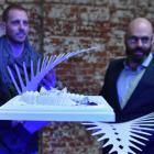 Ashleigh Jackson (left) and Damien van Brandenburg (centre), creative directors of Architecture...