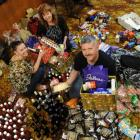Assembling Christmas hampers for redundant Hillside workers are (from left) Simone Hourigan,...