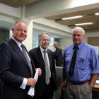 Associate minister of transport Craig Foss (left) with NZ Transport Agency southern regional...
