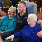 At South Dunedin's Radius Fulton Care Centre residents Allein Kettink (left) and Gladys Smith get...