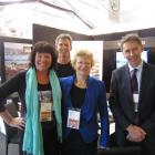 At  the 2012 Trenz trade show in Queenstown are (from left) Tourism Waitaki sales and marketing...
