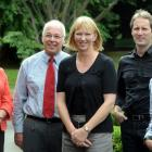 At the Dunedin Club this week for a combined Clinical Governance Group meeting are (from left),...