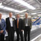 At the official opening of Queenstown Airport's new $4 million baggage-handling facility are ...