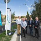 At the official opening of the Glenda Dr intersection project in Queenstown yesterday are (from...