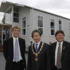 At the official opening of Wakari School's refurbished hall yesterday are (from left) board of...