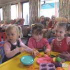 Attending the Iona Playgroup are Sophie Notman (2), Taylah Keen (13 months) and Olivia Mavor (3)...
