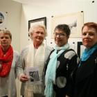 Attending  the show are (from left) Maree Hocking, of Oamaru, Central Stories board member Helena...