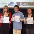 Attending the Youth Environment Forum held in Wellington recently are (from left) Molly Holloway,...