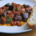 Aubergine and tomato stew. Photo by Gregor Richardson.