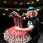 Auckland comedian Te Radar visits the Oamaru Opera House yesterday.  Photo by Andrew Ashton.