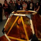 """Audrey Baldwin performs in """"Canker"""" at the Blue Oyster Project Art Space last night. Photos by..."""