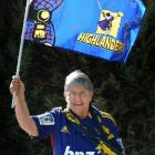 Audrey Foster (76), of Kurow, who will be at Forsyth Barr Stadium on Sunday to cheer on grandson...
