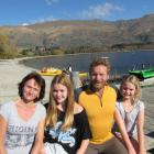 Australian adventurer Stuart Trueman (49)  on holiday this week in Wanaka with his wife Sharyn ...
