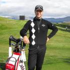 Australian golfer Brendan Jones at The Hills yesterday. Photo by Olivia Caldwell.