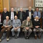 Back row, from left, Irene Black, William Barron, Alexander Robinson, Norman Maze, Thomas McNab,...