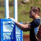 Bakkies Botha takes part in a South Africa training session in Wellington yesterday. Photo:...