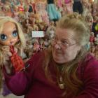 Balclutha toy collector Chrystle Collis with a Bratz doll at Dollyworld in Balclutha. Photos by...