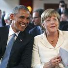 Barack Obama and Angela Merkel have reaffirmed their nations' friendship. Photo: Reuters